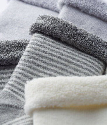 Lote de 3 pares de calcetines para bebé unisex