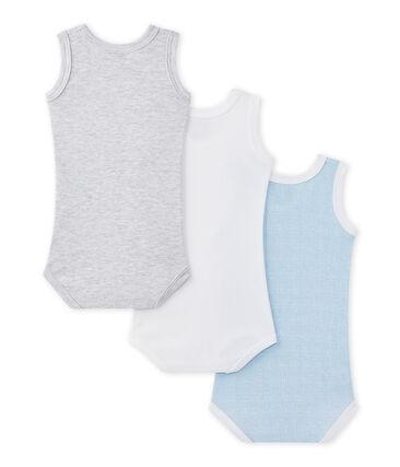 Lote de 3 bodies sin mangas para bebé niño