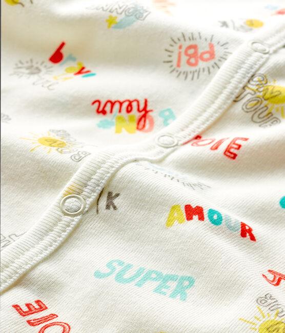 Pelele corto de punto para bebé de niño blanco Marshmallow / blanco Multico