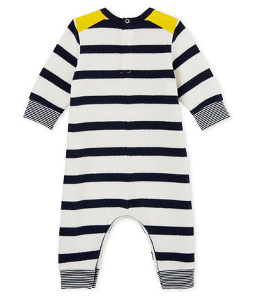 Mono largo con rayas marineras para bebé niño