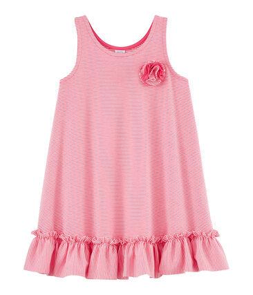 Vestido de niña rosa Geisha / blanco Marshmallow