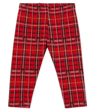 Pantalón de cuadros para bebé niño rojo Terkuit / blanco Multico