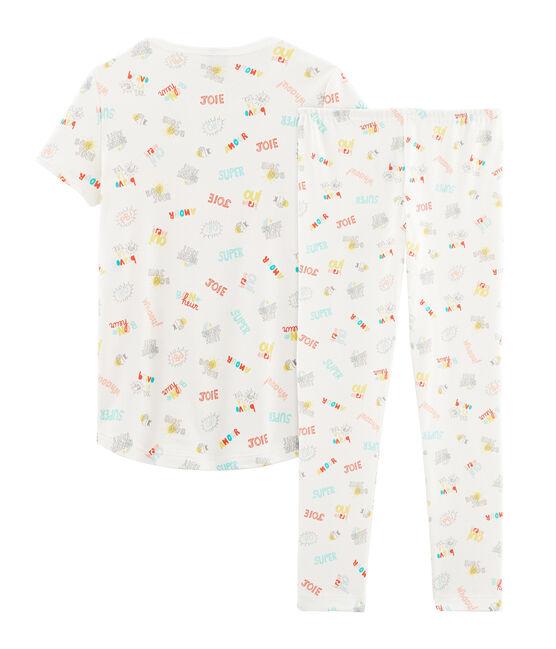Pijama de punto para niña blanco Marshmallow / blanco Multico