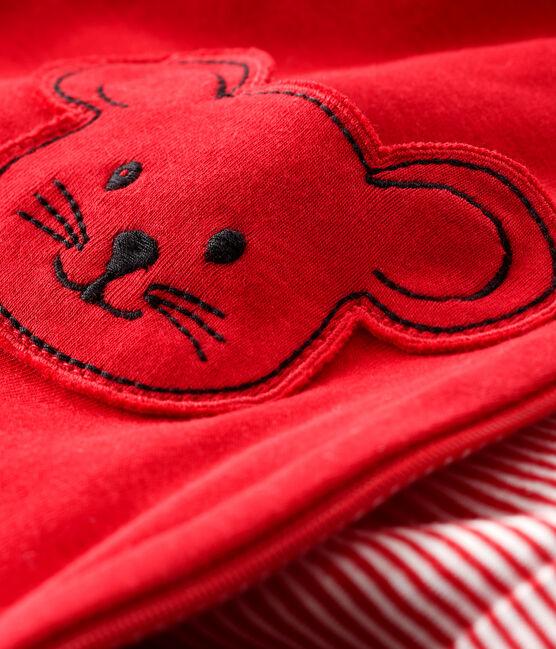 Mono de bebé unisex rojo Terkuit