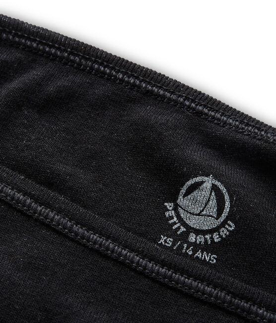 Braguita de algodón ligero negro Noir