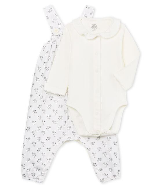 Conjunto 3 piezas ceremonial para bebé niña lote .