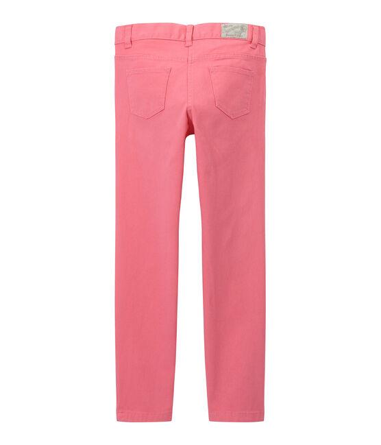 Pantalón para niña en jean colorido rosa Petal