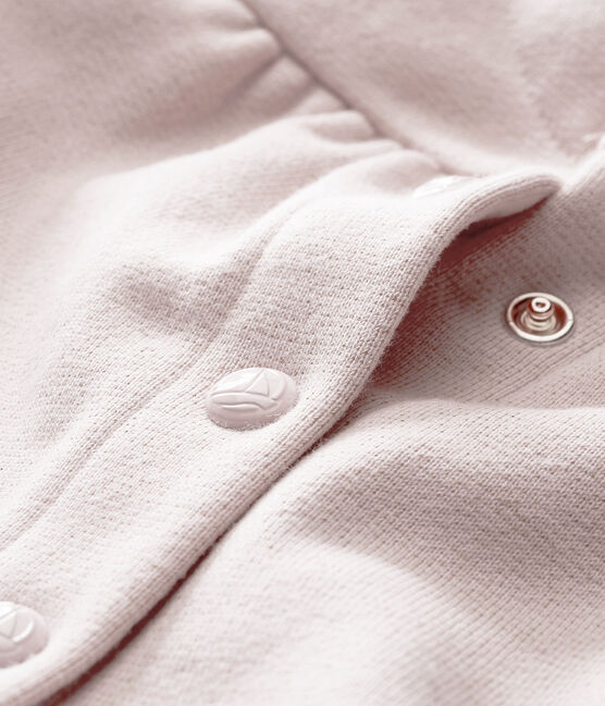 Cárdigan para bebé niña en muletón brillates rosa Joli / amarillo Dore