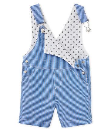 Peto corto de tela de rayas para bebé niño