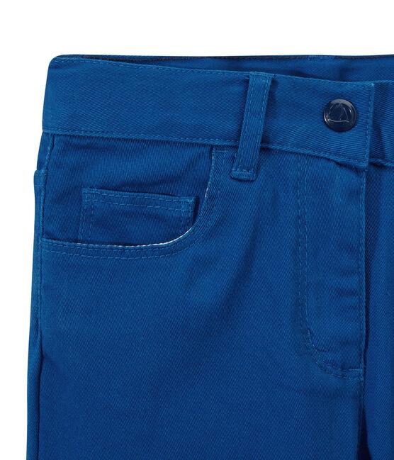 Pantalón para niña en jean colorido azul Perse