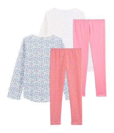 Dúo de pijamas de punto de niña lote .