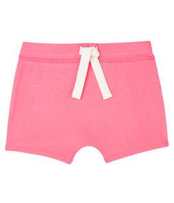 Pantalón corto liso para bebé unisex rosa Cupcake