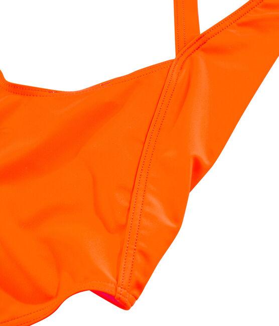 Traje de baño de 1 pieza ecorresponsable para mujer naranja Tiger