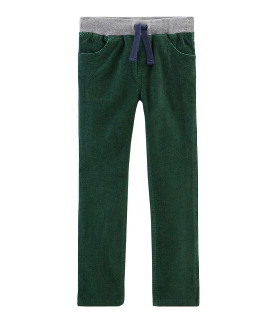Pantalón de terciopelo para niño verde Sousbois