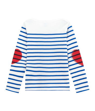 Camiseta marinera infantil creativa para niña