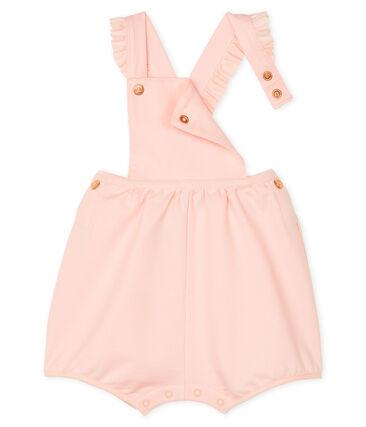 Peto corto de muletón para bebé niña rosa Minois