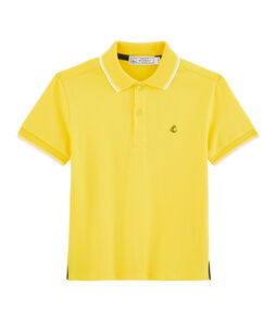 Polo de niño amarillo Shine