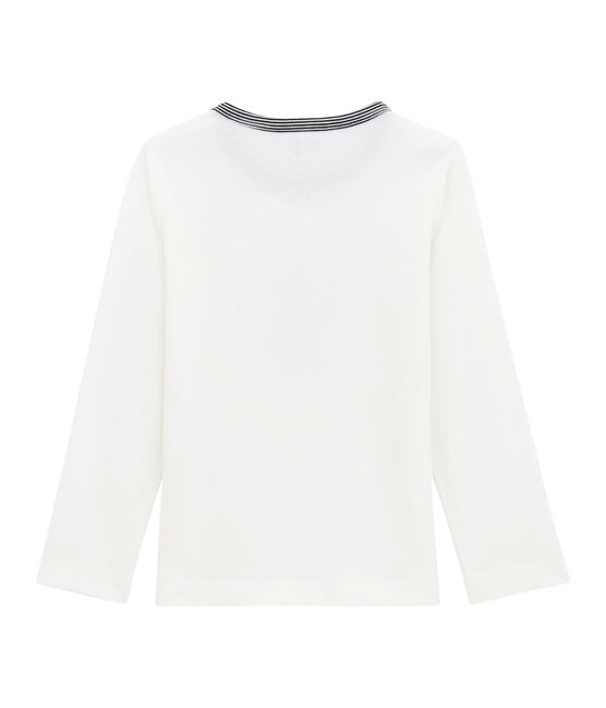 Camiseta de manga larga para niño blanco Marshmallow