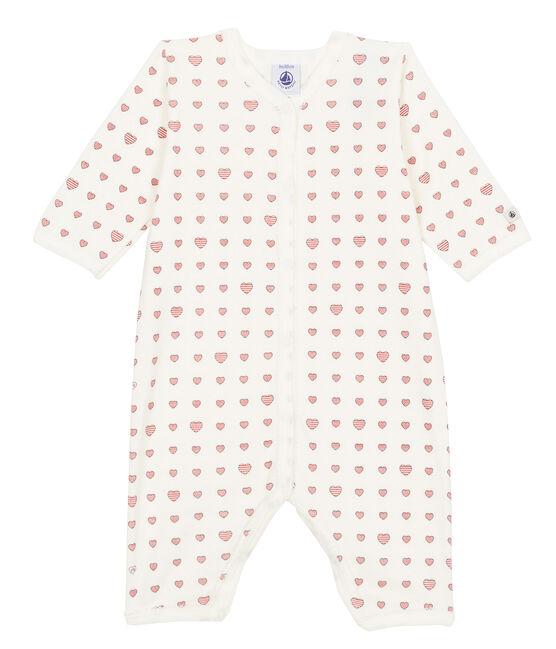 Pijama de bebé sin pies en punto suave para niña blanco Marshmallow / blanco Multico