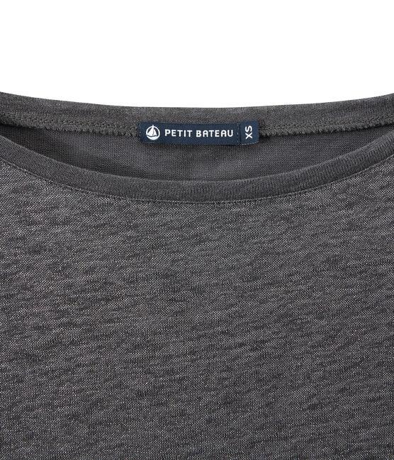Camiseta de manga larga de lino para mujer gris Maki / gris Argent