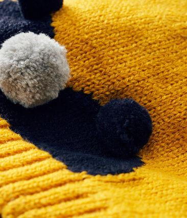 Gorro para bebé niño con forro polar amarillo Boudor