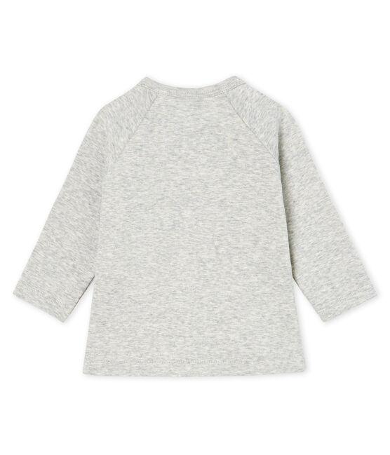 Camiseta de manga larga para bebé niña gris Beluga