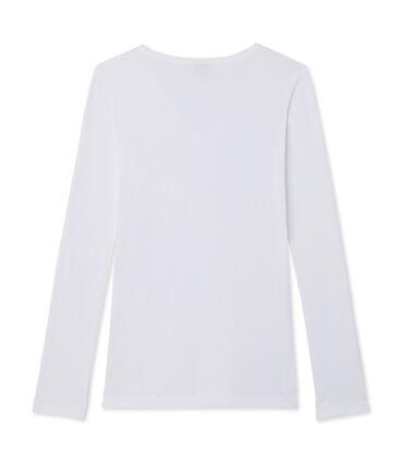 Camiseta de manga larga icónica de mujer blanco Ecume