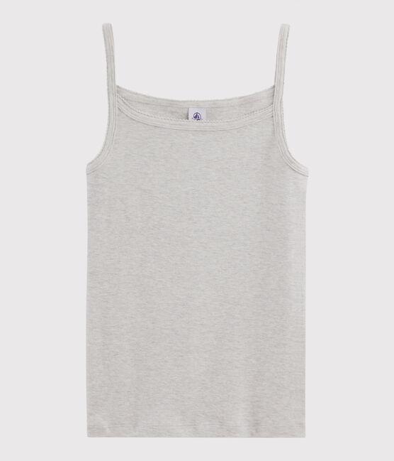 Camisa de tirantes para mujer gris Beluga