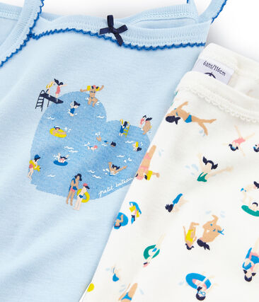 Par de camisas de tirantes para niña