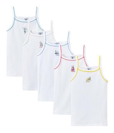 Lote de 5 camisetas de tirante fino estampadas para niña