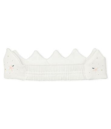 Corona de punto para bebé de niña blanco Marshmallow