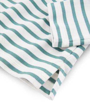 Camiseta marinera para mujer blanco Marshmallow / azul Brut