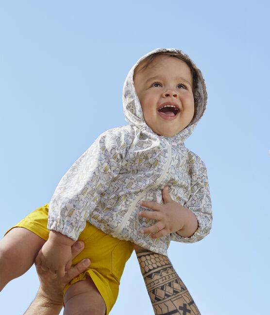Cortavientos estampado para bebé unisex blanco Marshmallow / azul Brut