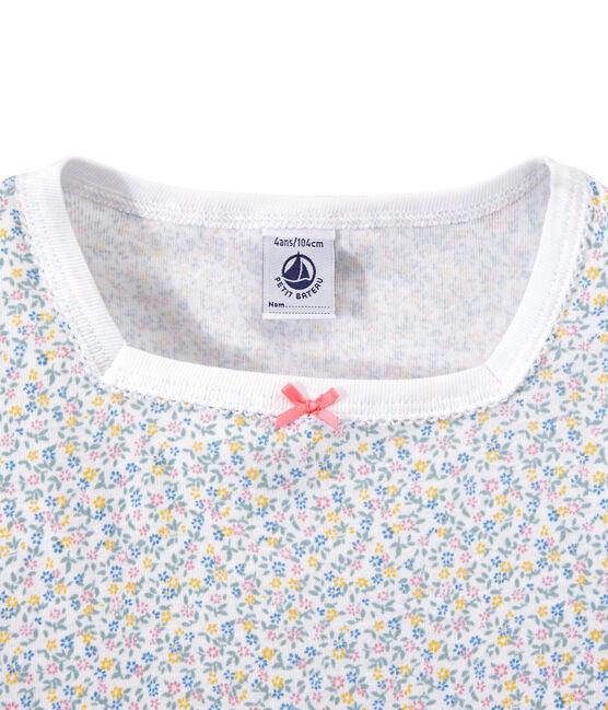 Pijama corto estampado para niña blanco Ecume / blanco Multico
