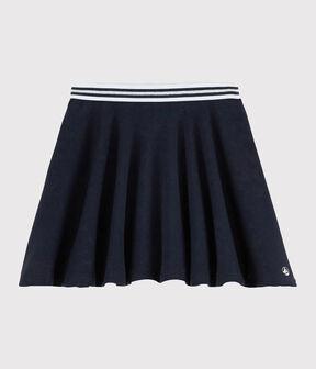 Falda de punto de niña azul Smoking