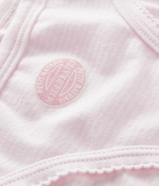 Braguita para niña rosa Pearl / blanco Multico