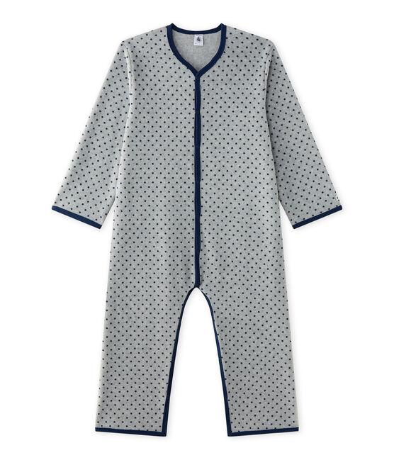 Pijama manta para niño gris Subway / azul Medieval