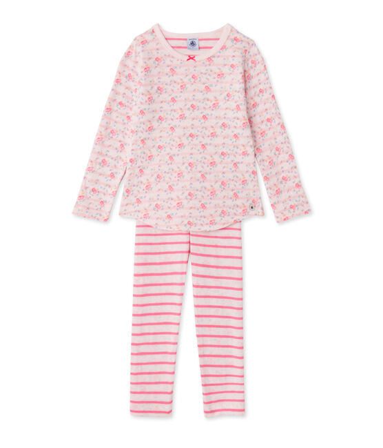 Pijama de túbico reversible para niña rosa Vienne / rosa Rose