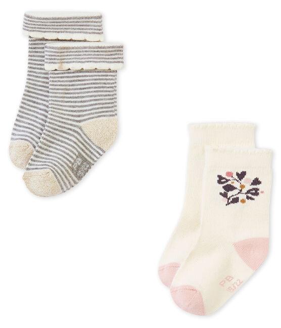 Lote de 2 calcetines para bebé niña lote .