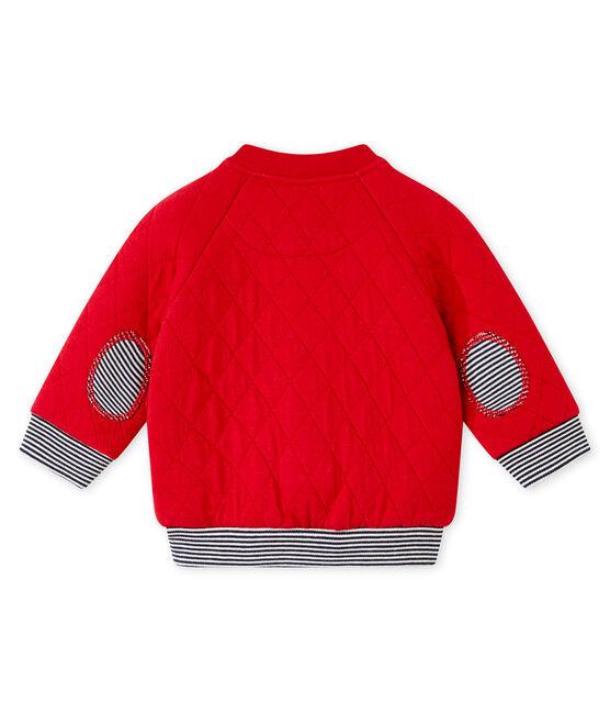 Cárdigan para bebé niño en túbico acolchado rojo Terkuit