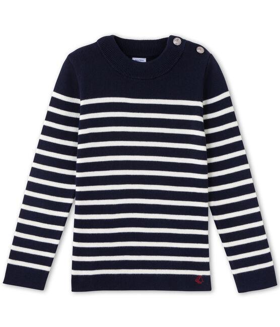 Jersey para niño azul Smoking / blanco Lait