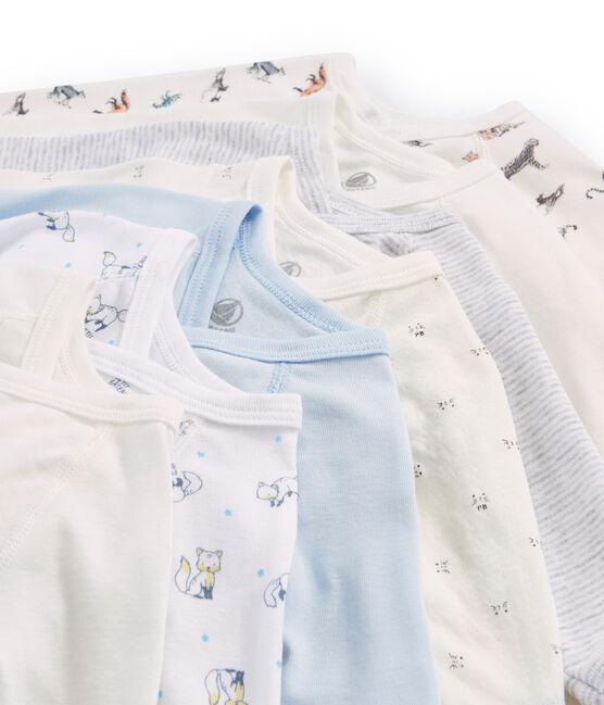 Bolsita sorpresa de 7 bodis de recién nacido de manga larga para bebé niño lote .