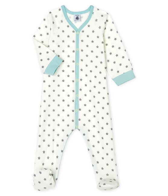 Pijama de punto para bebé de niño blanco Marshmallow / gris Gris