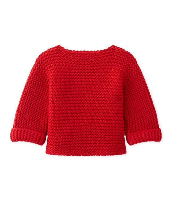 Cardigan de lana y algodón unisex rojo Froufrou