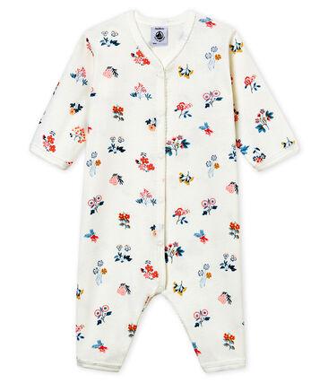 Pijama de bebé sin pies en punto suave para niña