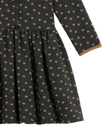 Vestido para niña negro City / amarillo Dore