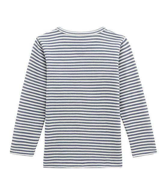 Camiseta de manga larga para niño azul Turquin / blanco Marshmallow