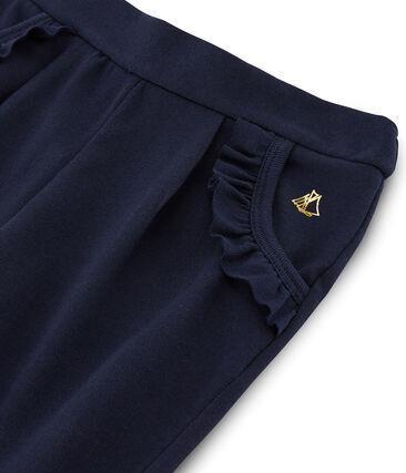 Pantalón de niña azul Smoking Cn