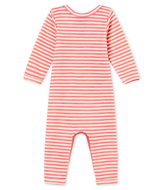 Body largo para bebé niño rosa Cheek / blanco Marshmallow