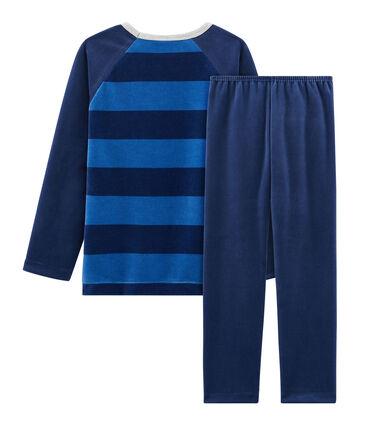 Pijama de terciopelo para niño pequeño azul Medieval / azul Major